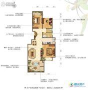 花屿海3室2厅1卫101平方米户型图