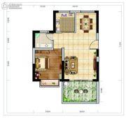 海南近海湾1室2厅1卫63平方米户型图