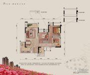融汇半岛玫瑰公馆2室2厅1卫81平方米户型图