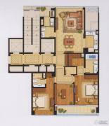 绿城宁波中心�m轩3室2厅3卫0平方米户型图