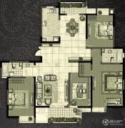 世茂香槟湖4室2厅2卫177平方米户型图