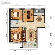 新元绿洲三期3室2厅1卫0平方米户型图