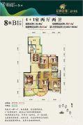 亿枫翠城4室2厅2卫151平方米户型图