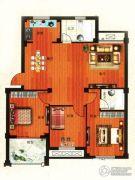 金港嘉园3室2厅2卫123平方米户型图