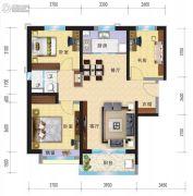 兰州碧桂园3室2厅1卫115平方米户型图