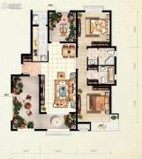 红木林2室2厅1卫109平方米户型图