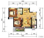 远大中央公园2室2厅1卫80--89平方米户型图