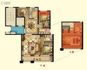 京都御府4室2厅3卫148平方米户型图