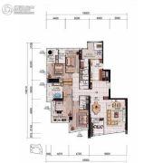 侨鑫汇悦台4室2厅4卫317平方米户型图