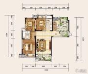 建业龙城3室2厅2卫132平方米户型图