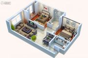 中天锦庭2室2厅1卫81平方米户型图