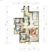 广州亚运城3室2厅1卫100平方米户型图