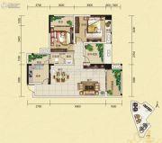夜月风光・上城2期2室2厅1卫96平方米户型图