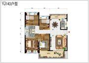 碧桂园润杨溪谷4室4厅4卫147平方米户型图