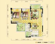 远达天际上城2室2厅1卫99平方米户型图