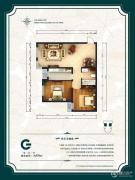 公园6号2室2厅1卫89平方米户型图