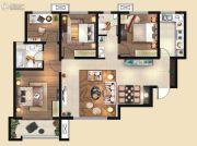 荣民宫园中央3室2厅2卫132平方米户型图