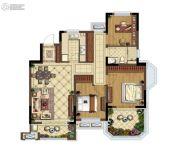 金地湖城艺境3室2厅1卫105平方米户型图