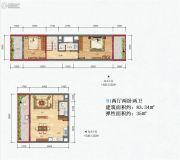 皇家海湾公馆2室2厅2卫83平方米户型图