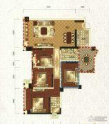 领地・国际公馆4室2厅2卫132平方米户型图