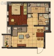 莱蒙顺泽・水榭花城0室1厅1卫61平方米户型图