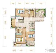 �X江一品3室2厅2卫99平方米户型图