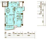 东方雅居2室2厅2卫0平方米户型图