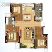 金地格林世界三期3室2厅2卫120平方米户型图