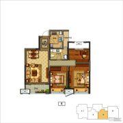 上虞万达广场3室2厅1卫0平方米户型图