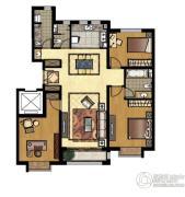中信府3室2厅2卫142平方米户型图