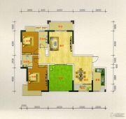 凯旋城2室2厅2卫131平方米户型图