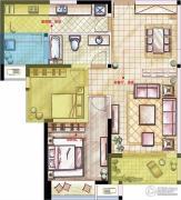 星河国际2室2厅1卫86平方米户型图