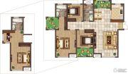荣邦城3室2厅2卫0平方米户型图