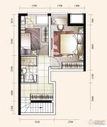 华业东方玫瑰2室2厅2卫83平方米户型图