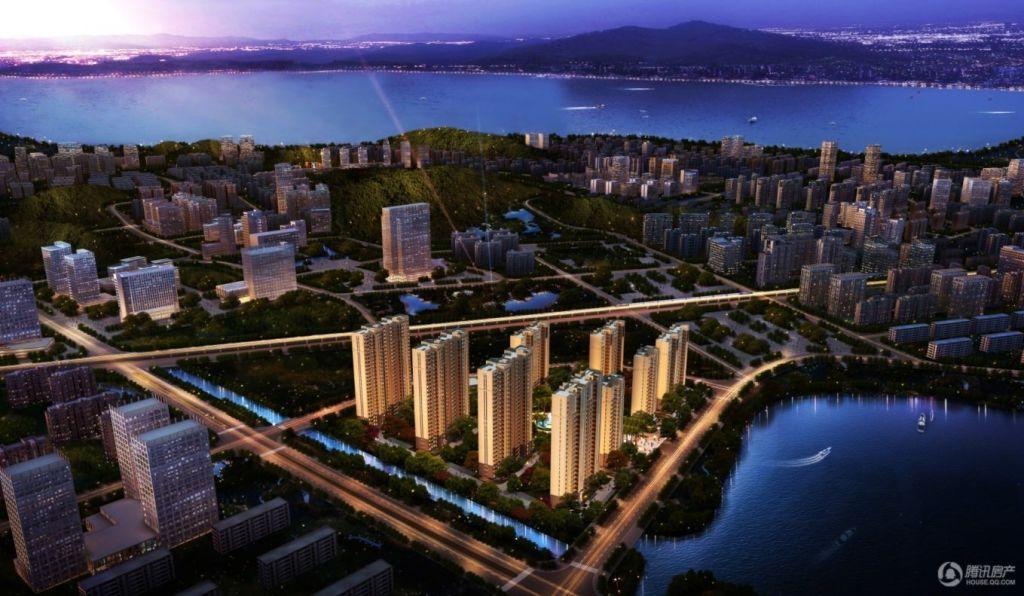千嵘望湖公寓鸟瞰图