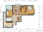 万裕・润园3室2厅1卫86平方米户型图
