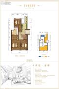 碧桂园保利云禧3室1厅1卫0平方米户型图