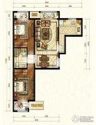 中海国际城2室1厅1卫70平方米户型图