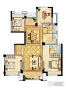 璞缇学苑4室2厅2卫128平方米户型图
