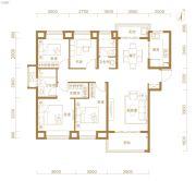 东湖金茂府4室2厅2卫138平方米户型图