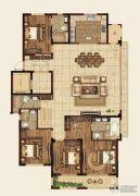 高科紫微堂4室2厅4卫209平方米户型图