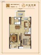 延吉万达广场2室2厅1卫87--88平方米户型图