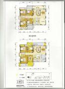百盛公馆・世纪1号4室2厅2卫130平方米户型图