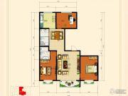 龙昱华府3室2厅1卫135平方米户型图