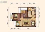 旭阳台北城敦美里2室2厅1卫53平方米户型图