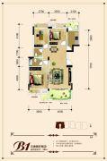 联发・君澜天地3室2厅2卫105平方米户型图