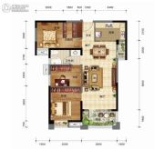 奥山世纪城3室2厅1卫112平方米户型图