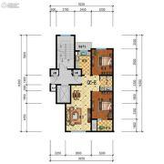 步阳江南甲第2室2厅2卫87平方米户型图
