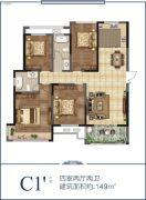 香榭里畔山兰溪4室2厅2卫149平方米户型图