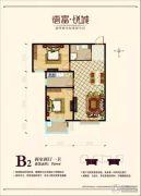 德富悦城2室1厅1卫89平方米户型图